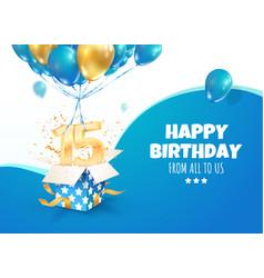 Celebrating 15 th years birthday 3d vector