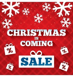 Christmas is coming sale background vector image
