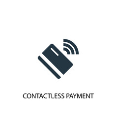 contactless payment icon simple element vector image