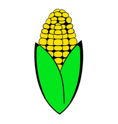 Corncob icon cartoon vector