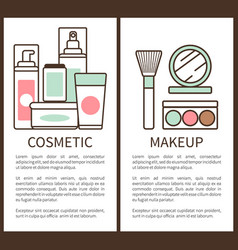 cosmetic and makeup set vector image