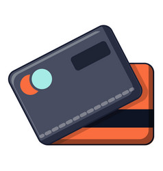 credit cards icon cartoon style vector image