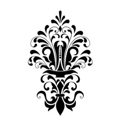 damask element isolated damask central vector image