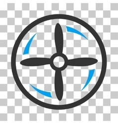 Drone Screw Rotation Icon vector