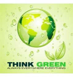 eco world background vector image
