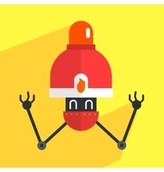 Fire Alarm Robot Character vector