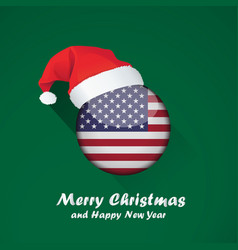 flag of united states of america merry christmas vector image