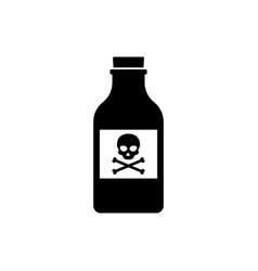 Flat poison bottle icon toxin poison silhouette vector