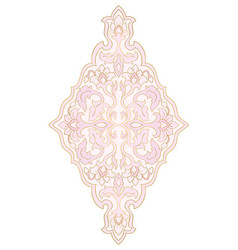 Floral pink medallion for design vector