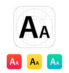 Font size icon vector