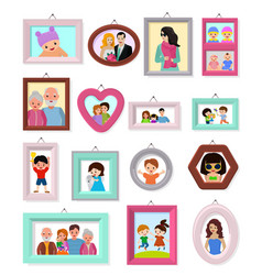 frame framing picture or family photo for vector image
