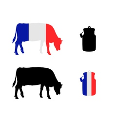 French milk cow vector image