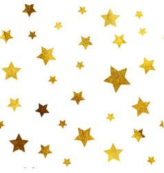 gold christmas glitter sparkles stars geometric vector image