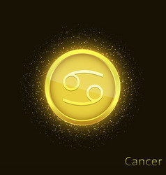 golden cancer sign vector image