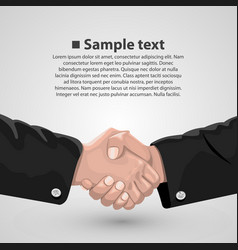 Handshake business agreement vector