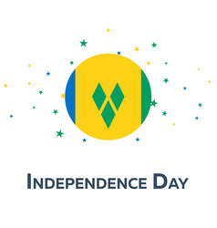 independence day of saint vincent and the vector image