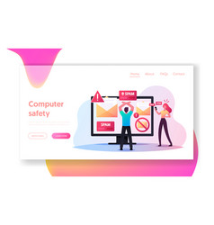 Info garbage email newsletters landing page vector