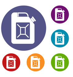 jerrycan icons set vector image