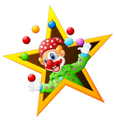 Juggling clown vector