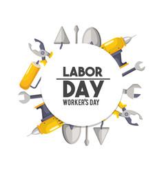 Labor day national celebration symbol vector