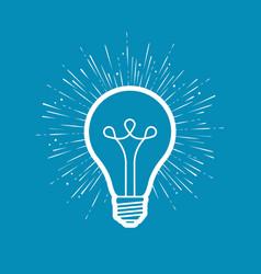 light bulb electricity innovation idea symbol vector image