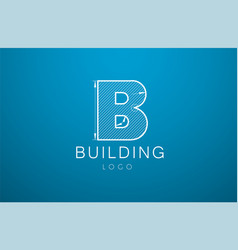 logo template letter b in the style of a vector image vector image