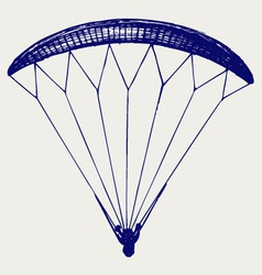 Man jumping with parachute vector image vector image