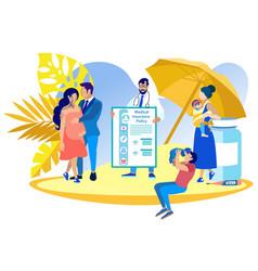 Medical insurance obstetrics vector