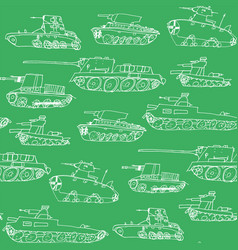 military transport pattern with a tank vector image