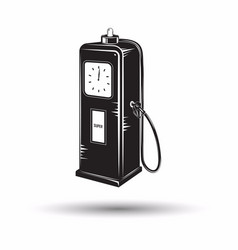 Monochrome petrol station icon vector