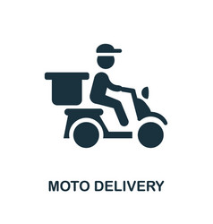 Moto delivery icon simple element from delivery vector