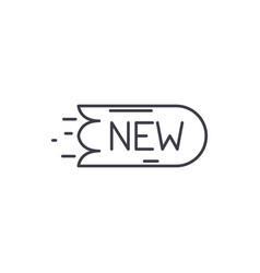 new sticker line icon concept new sticker vector image