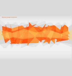 orange abstract polygonal background vector image