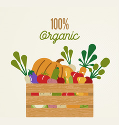 organic food concept with healthy vegetables vector image