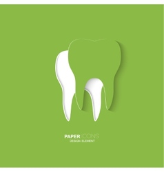Paper icon tooth vector