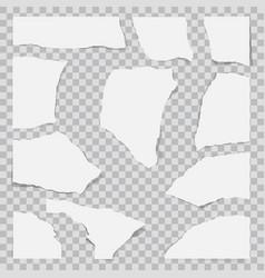 paper torn to pieces scrap paper vector image