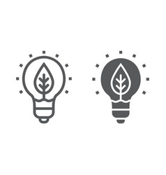 Power of nature line and glyph icon ecology vector