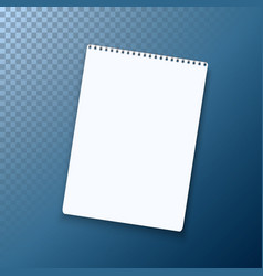 Realistic black notepad template icon vector