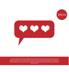 Red like and heart icon isolated on white vector