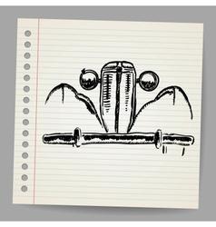 Scribble car vector