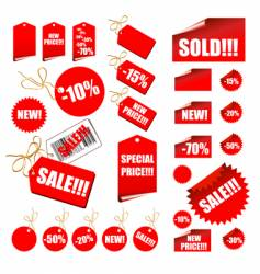 Shopping retail sales tags vector