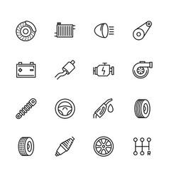simple icon set car repair and maintenance vector image