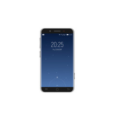 smartphone with locked screen vector image
