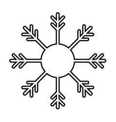 snowflake outline silhouette icon isolated vector image