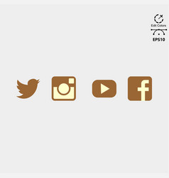 social media logo pack vector image
