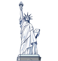 Statue liberty nyc usa symbol vector