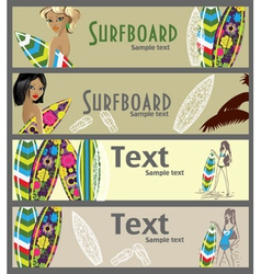 Surfer banners vector