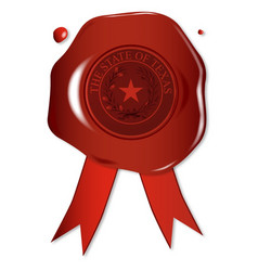 texas state wax seal vector image