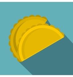 Two empanadas icon flat style vector