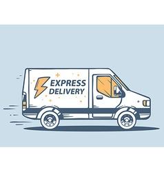 Van express delivery of goods to customer vector